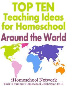 Top Ten Teaching Ideas for Celebrating Around the World Day