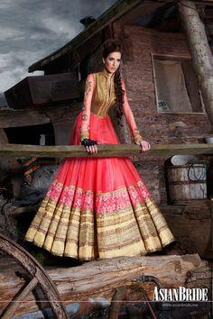 Kajal Patel - Asian Bride Magazine I freaking love the skirt of that dress Pakistani Dresses, Indian Dresses, Indian Outfits, Indian Bridal Wear, Indian Wear, Saris, India Fashion, Asian Fashion, Patiala Salwar