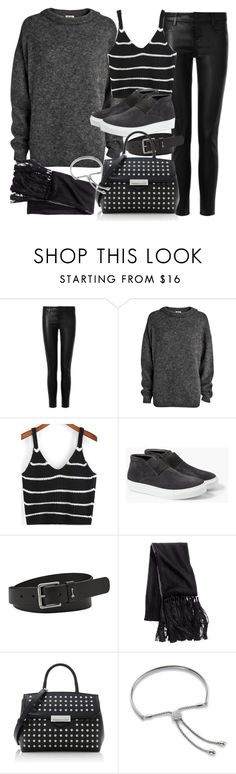 """""""Untitled #18566"""" by florencia95 ❤ liked on Polyvore featuring J Brand, Acne Studios, MANGO, FOSSIL, H&M, Alexander Wang, Monica Vinader and apopofluxury"""