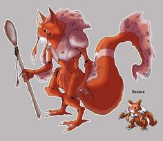 Seabra | 30 Incredible Works Of Art Inspired By Pokemon Fusion