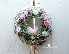 Türkränze - Türkranz *Vogel* rosa - ein Designerstück von tulip-dekoCONZEPT bei DaWanda