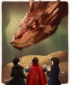 PORTRAITS & FAN ART<<<Haha! Smaug, Kahn, Doctor Strange, and Sherlock