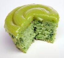 Shrek cupcake-natural coloring