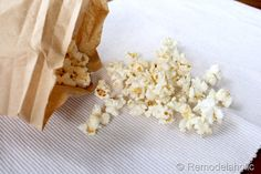 Air Popped Popcorn in a Brown Bag! – Remodelaholic