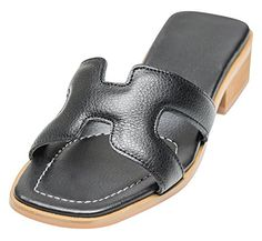601eebc5f1cd  39.9 - AnnaKastle Womens H Cut-Out Leather Slide Mule Sandal Slippers