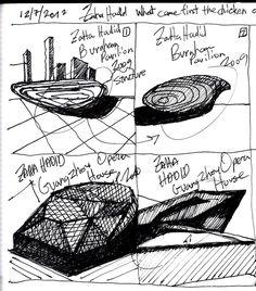 Zaha Hadid Scketches