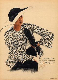 Alexandre Iacovleff 1934 Molyneux Back Evening Gown Augustabernard Fashion Illustration