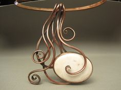 Flowing Copper and Ocean jasper. pendant, so organic looking!