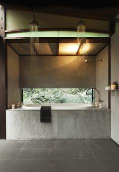 Walknorth Architects |  Island House, Scotland Island - Sydney, NSW, Australia. Amazing bathroom.