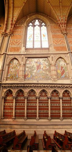 Keble College, Chapel, Oxford  - Architect: William Butterfield, 1876.