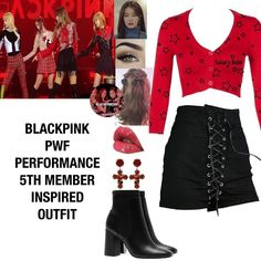 Likes, 31 Comments - 𝐁𝐥𝐚𝐜𝐤𝐩𝐢𝐧𝐤 𝟓𝐭𝐡 Kpop Fashion Outfits, Stage Outfits, Korean Outfits, Outfits For Teens, Girl Outfits, Cute Outfits, K Pop, Bts Clothing, Bts Inspired Outfits