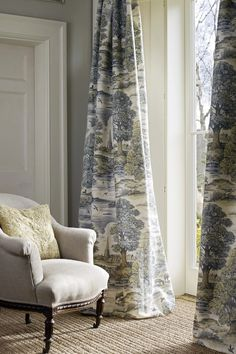 Toile Curtains, Curtains With Blinds, Country Curtains, Curtain Fabric, Lounge Curtains, Cottage Curtains, Patterned Curtains, Bedroom Curtains, Curtain Panels