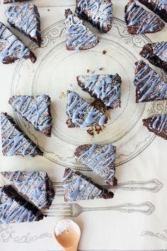 Dark Chocolate Lavender Brownies
