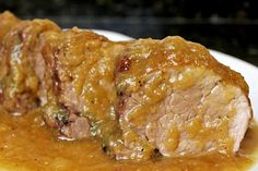 Sirloin in thermomix- Pork tenderloin in Spanish sauce with Thermomix - Pork Recipes, Crockpot Recipes, Cooking Recipes, Carne Asada, Pork Roast, Food To Make, Food And Drink, Yummy Food, Menu