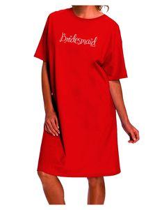 TooLoud Bridesmaid Design - Diamonds - Color Dark Adult Night Shirt Dress