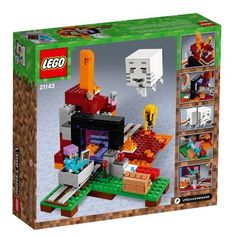 Lego Minecraft The Nether Portal Set 21143 - Misc Legos, Minifigura Lego, Minecraft Lego, All Lego, Minecraft Buildings, Disney Minecraft, Baby Zombie, Shop Lego, Lego Construction