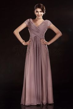 A-line Floor-Length V-Neck Olga's Mother of Bride Dress comes in a pink color but no picture showing it.