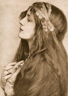 Rudolf Eickemeyer - Portrait d' Evelyn Nesbit, Photogravure, 1901