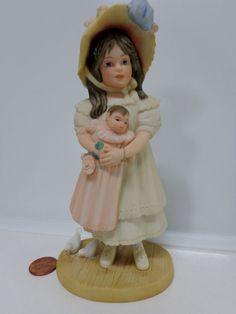 Jan Hagara Porcelain SUMMER Girl LE FIGURINE Girl White Turtle Doves Cake Topper