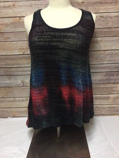 Sugar Lips Top Size Small Sleeveless Blue Black Red #SugarLips #Blouse #Casual