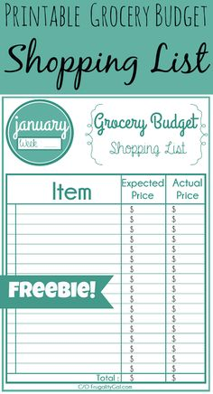 Free monthly/weekly #printable grocery list. Use this to keep track of store pricing and learn stock-up prices in your area. And, of course, to organize your grocery list. | via www.frugalitygal.com
