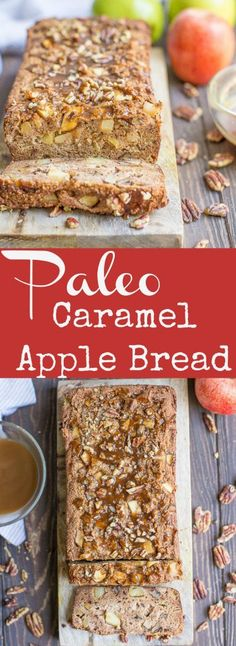 Delicious apple bread topped with a dairy-free salted caramel sauce and pecans is sure to make this baked good your new favorite fall treat! Serve for breakfast, as a snack, or even dessert. Recipe is grain-free, gluten-free, and Paleo, but no one will ever know!  Boy do I have a treat for you guys!!... Get the Recipe