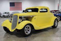 custom hot rod designs | Yellow 1934 Ford 3 Window For Sale | MCG Marketplace