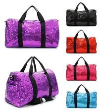Big BLING 21 Glitter SEQUIN Sparkle DUFFLE BAG Weekend Dance Carry On Gym Tote