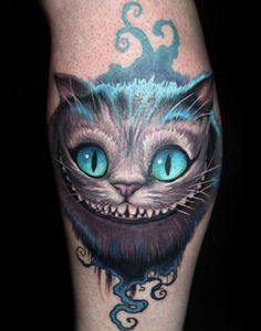 The Chesire Cat. Alice in Wonderland tattoo. #jamestattooart