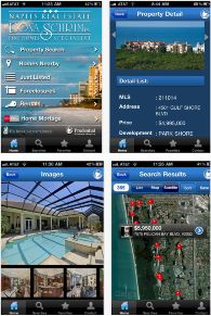 Florida Naples real estate application helps users of Florida to search for property that are listed for sell, rent or mortgage in or around Florida. It has 6 different sections to search a property.