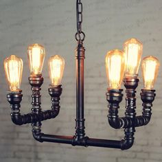 modern art lightings made by copper pipes - Google Search