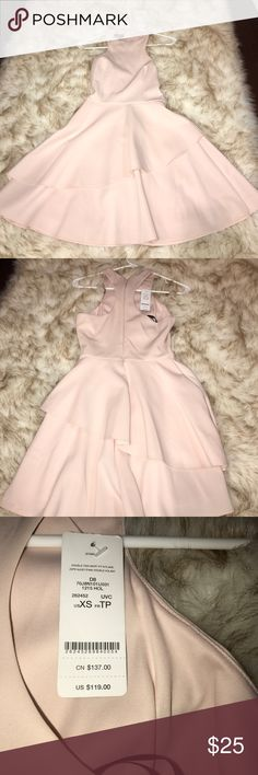 BEBE Pink Summer Dress Really soft silky texture but on the thick side so go braless if you want. Never worn it was for a wedding. I have a cream coat to match it too lmk if you want to see it! bebe Dresses Midi