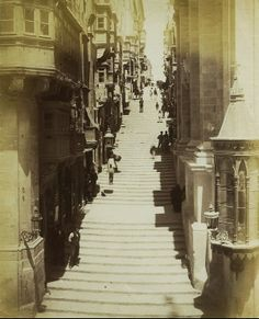 St. John Street Valletta Malta circa 1880