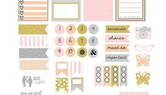 Mod Neutral Planner Stickers - Free Printable