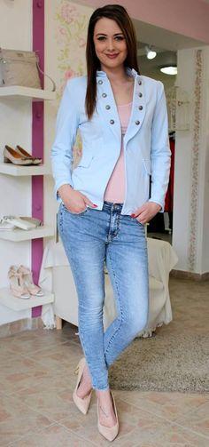 Blue cotton coat Sweater Jacket, Coats, Sweaters, Jackets, Women, Fashion, Bebe, Down Jackets, Moda