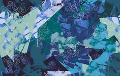 Estampa Têxtil 'Recortes arabescos' por Ana Isa Zanesco