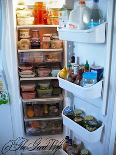 The Good Wife Weekly Organization Challenge - Week 4 Fridge #organization #kitchen