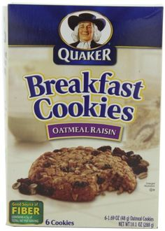 Quaker Breakfast Cookies Oatmeal Raisin, 6-Count Boxes,10.1-Ounces ...