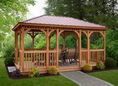 The gazebo is a great idea to decorate a terrace. The existence of the gazebo in the park can al