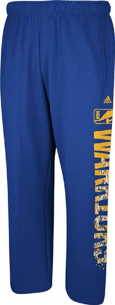 Golden State Warriors Royal Open Bottom Primal Elevation Fleece Sweatpants by Adidas $39.95
