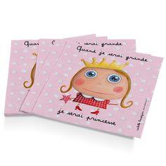 """Serviettes en papier """"Quand je serai grande, je serai Princesse"""" - Le Coin des Créateurs #isabellekessedjian #lecoindescreateurs #feteenfant #decoanniversaire #guirlande #fanions"""