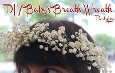 PARTYLISS: Baby's Breath Wreaths: Inspired by Kim Kardashian's Baby Shower!