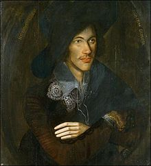 A portrait of Donne as a young man, c. 1595. Artist unknown. In the collection of the National Portrait Gallery, London.