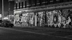 Detroit Street Art - Street Art on the old Roosevelt Hotel in Detroit's Historic Corktown.
