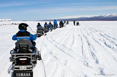 Snow mobiling in Iceland!