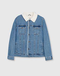 Pull&Bear - hombre - trends - denim collection - cazadora denim interior borreguillo - azul - 09710534-I2016