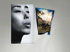Hermes window by Tokujin Yoshioka Hermes Window, Video Installation, Store Interiors, Web Magazine, Female Images, Visual Merchandising, Modern Contemporary, Illusions, Windows