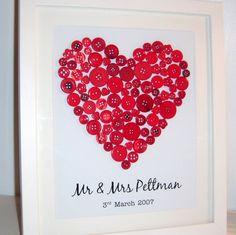 Red Button Art Heart  £25.00