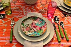 Bright spring summer floral The Running of the Lilly Tablescape by coconutheadsurvivalguide.com #lillyfortarget