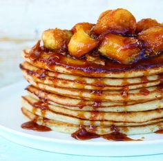 Culture Street | Buttermilk pancakes with honey and ginger caramelised bananas